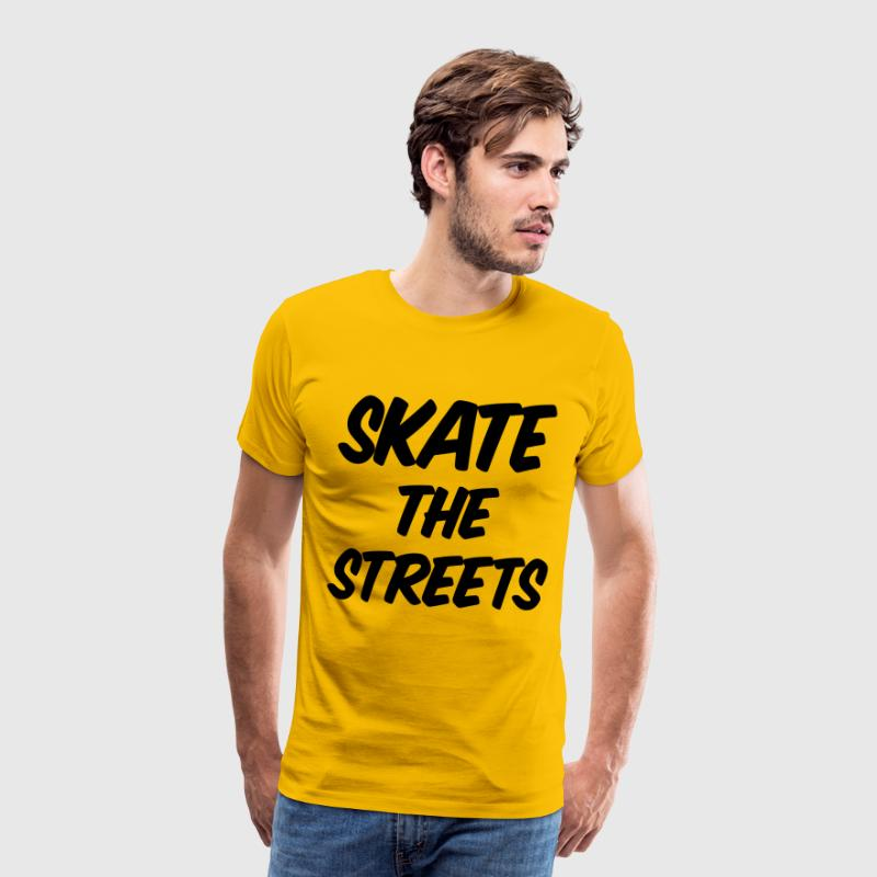 skate the streets T-shirts - Herre premium T-shirt
