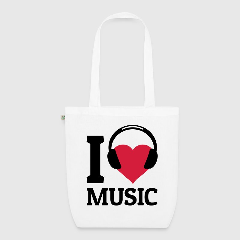 I love Music Bags & Backpacks - EarthPositive Tote Bag