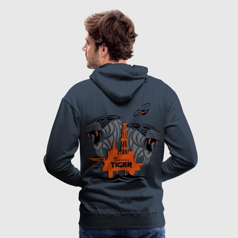 Oil Rig Oil Field North Sea Aberdeen Scotland - Men's Premium Hoodie