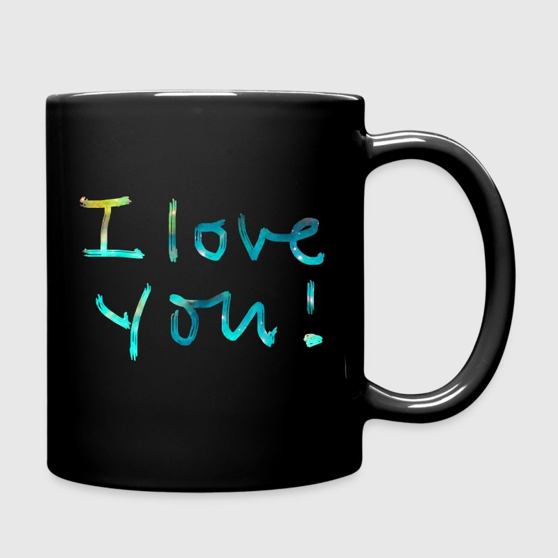 I LOVE YOU, Birthday, Valentine's Day, Quotes, Gift Bouteilles et Tasses - Tasse en couleur