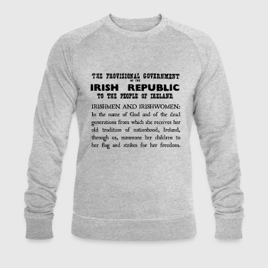 Irish 1916 Proclamation - Men's Organic Sweatshirt by Stanley & Stella