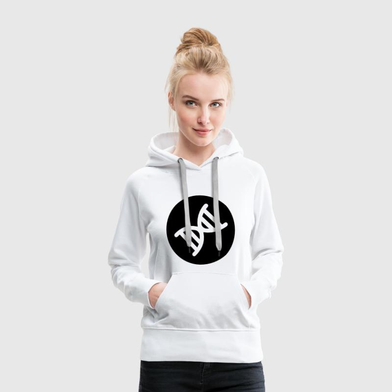 Double hélice de l ADN Sweat-shirts - Sweat-shirt à capuche Premium pour femmes
