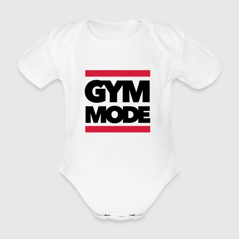 Gym Mode - Fitness - Bodybuilding T-Shirts - Baby Bio-Kurzarm-Body