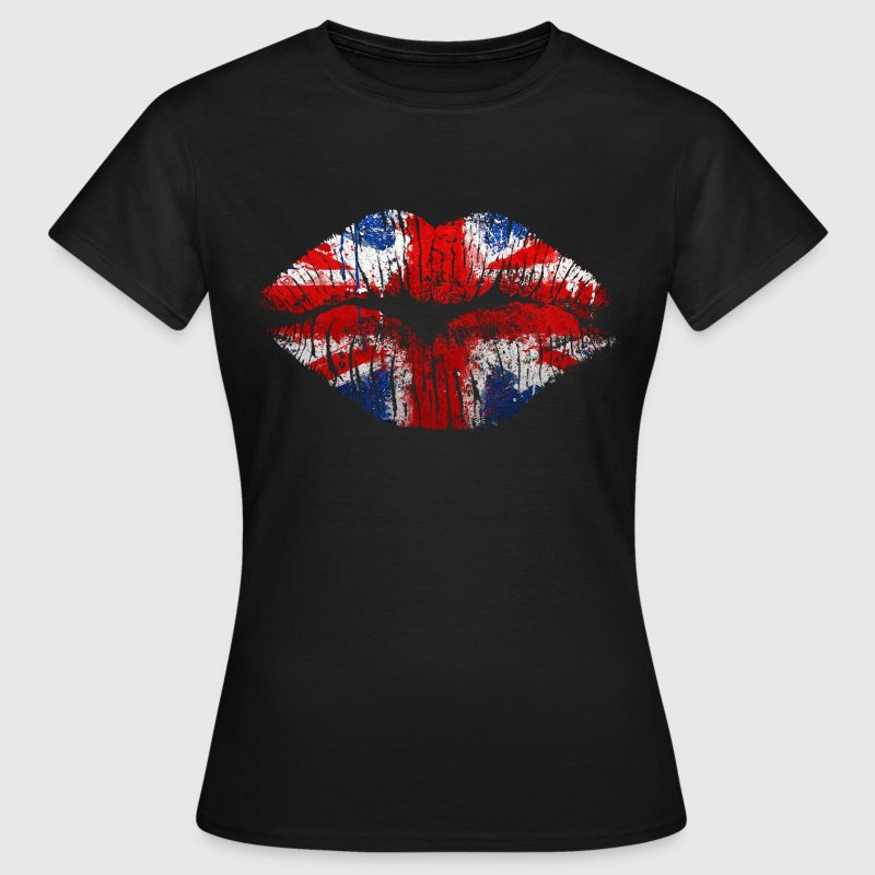 union jack kiss - Women's T-Shirt