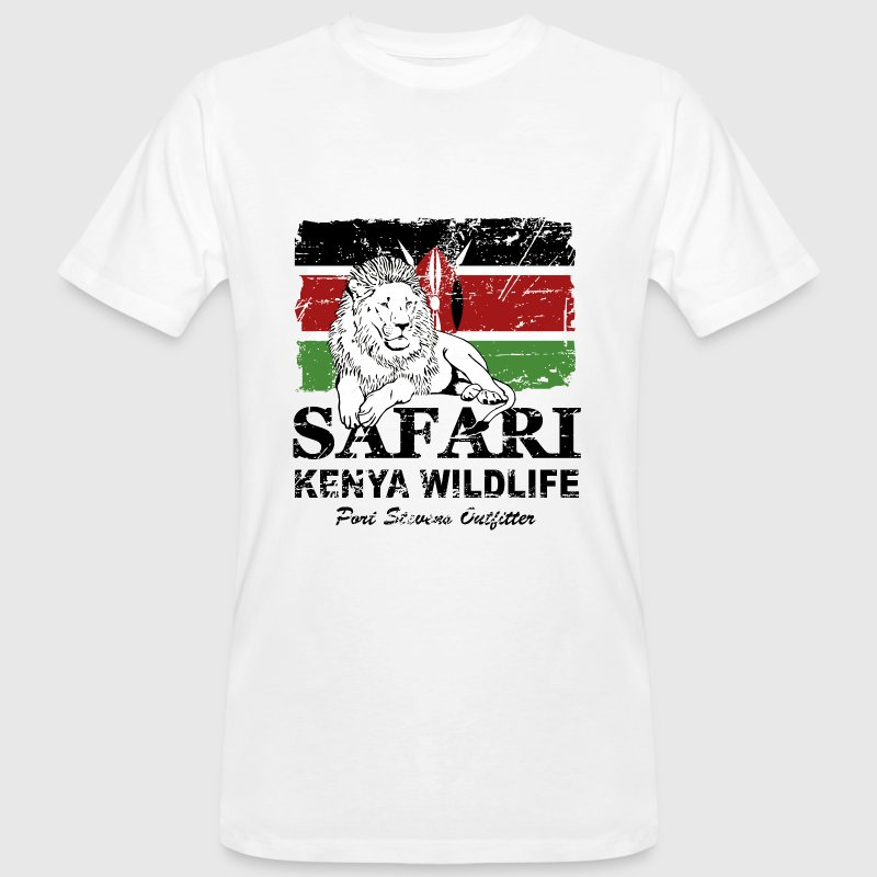 Lion - Safari Kenya Wildlife T-Shirts - Männer Bio-T-Shirt