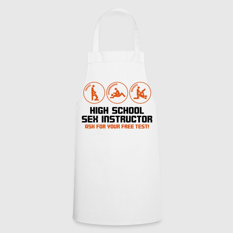 Sex teacher offers free trial lesson  Aprons - Cooking Apron