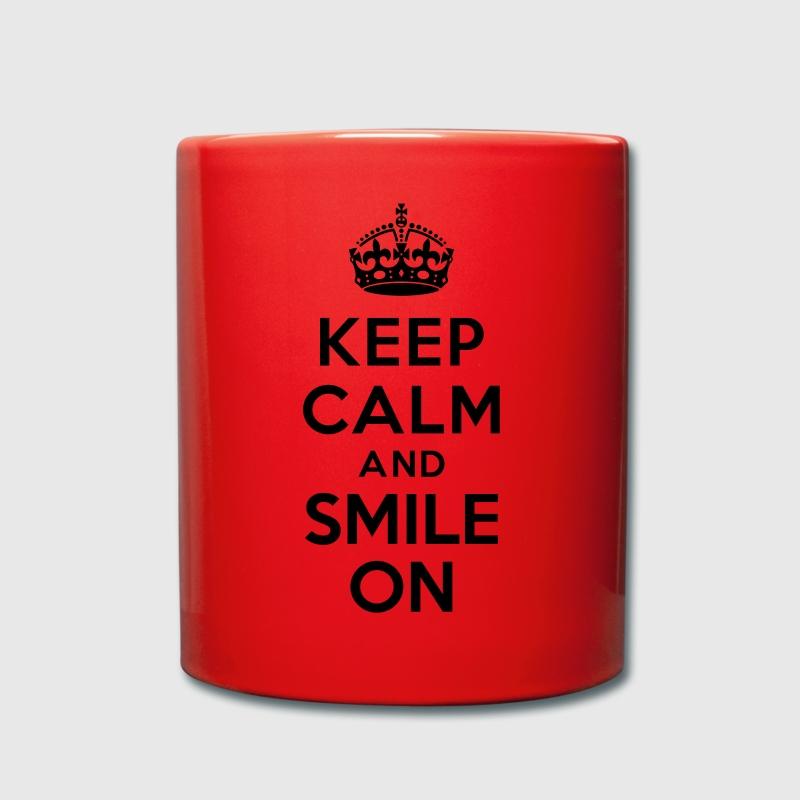 Tasse keep calm and smile on spreadshirt - Code promo private sport shop frais de port ...
