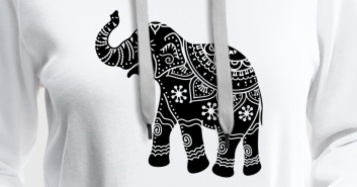 elefant indien hoodie spreadshirt. Black Bedroom Furniture Sets. Home Design Ideas