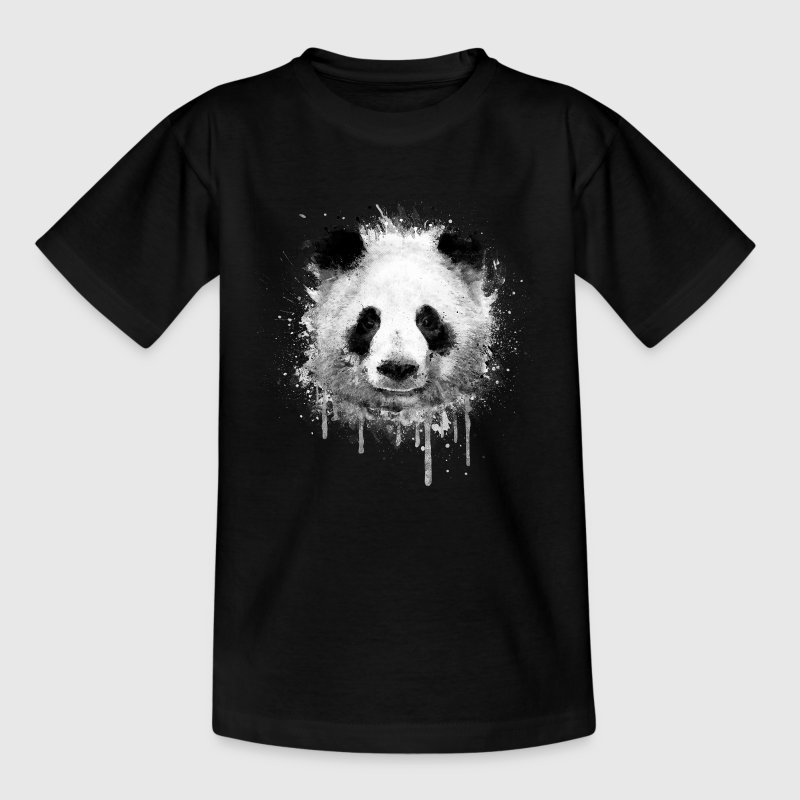 Cooles Kunst Panda Portrait (watercolor design)  T-Shirts - Teenager T-Shirt