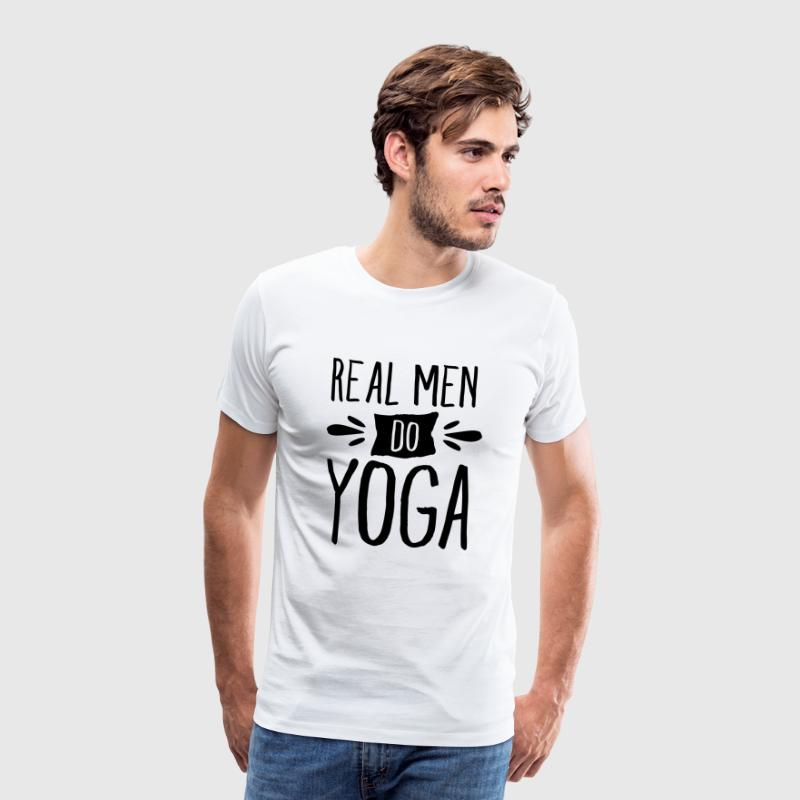 Real Men Do Yoga T-shirts - Mannen Premium T-shirt