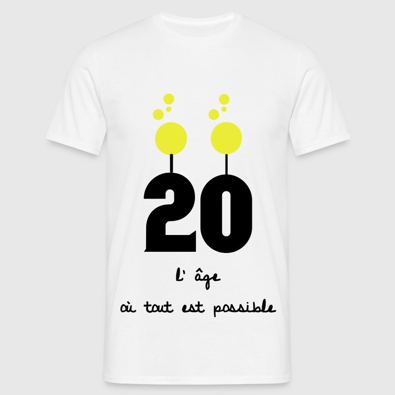 20 ans anniversaire Tee shirts - T-shirt Homme
