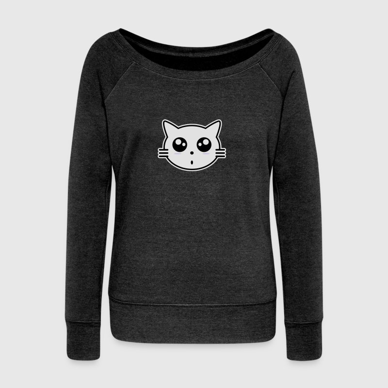 chat manga Sweat-shirts - Pull Femme col bateau de Bella