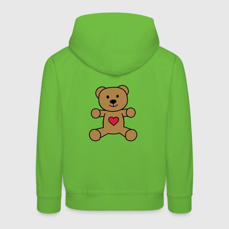 teddy bear with heart ours en peluche avec coeur Sweats - Pull à capuche Premium Enfant