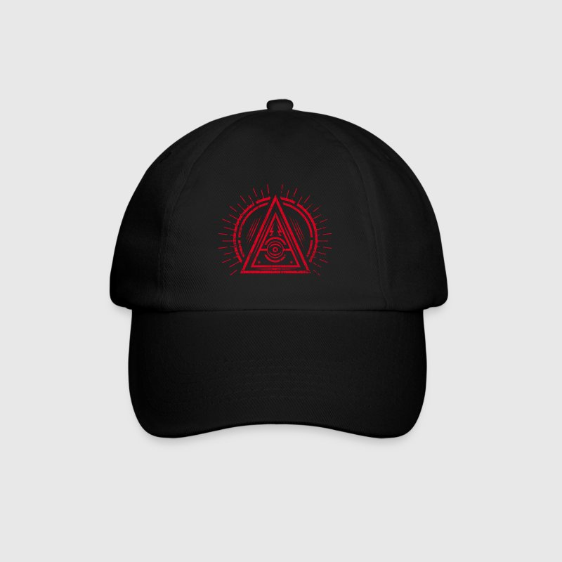 Illuminati - All Seeing Eye - Satan / Black Symbol Petten & Mutsen - Baseballcap