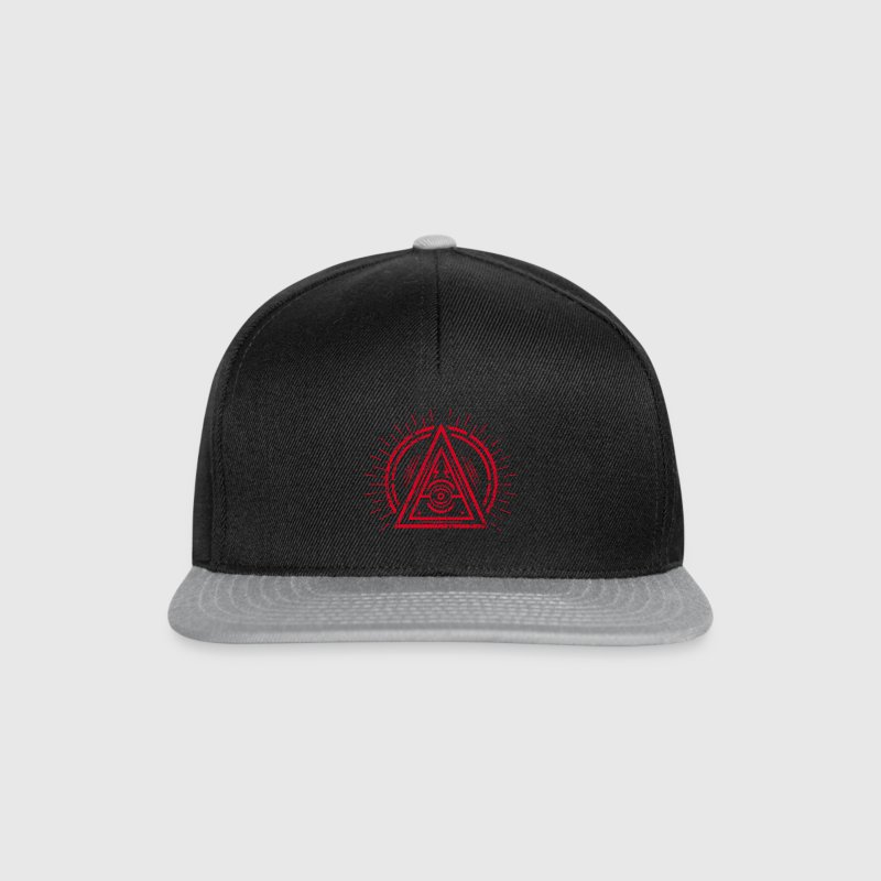Illuminati - All Seeing Eye - Satan / Black Symbol Caps & Hats - Snapback Cap
