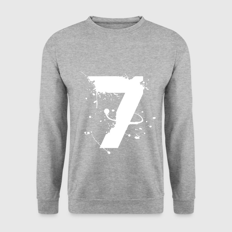 numéro 7 blanc Sweat-shirts - Sweat-shirt Homme