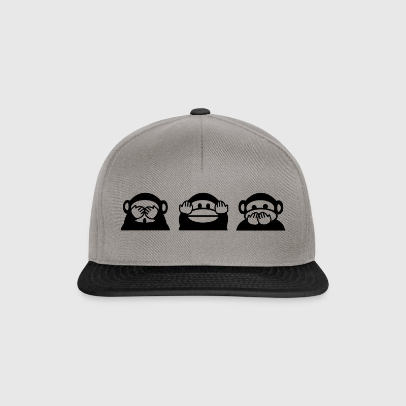 not see, not hear, nor speak Caps & Hats - Snapback Cap