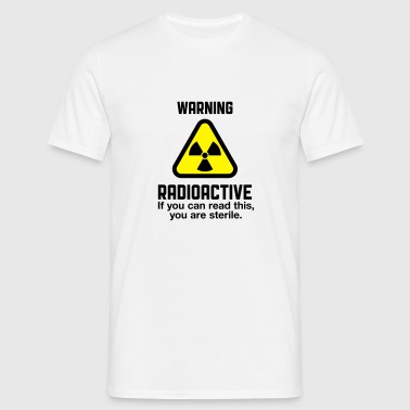 Attention: Radioactivity Sports wear - Men's T-Shirt