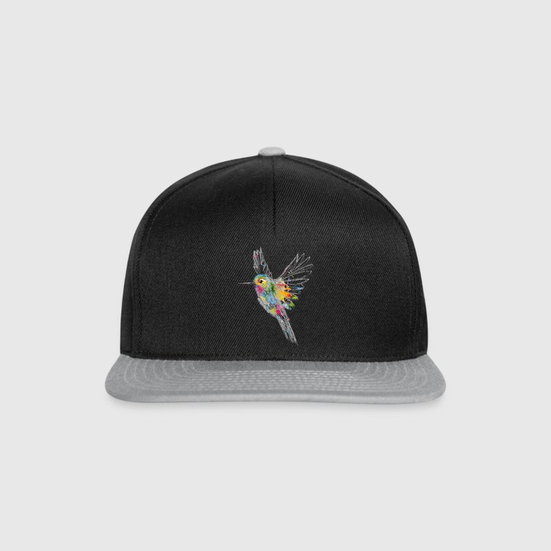 Hummingbird Watercolor Graffiti Caps & Hats - Snapback Cap