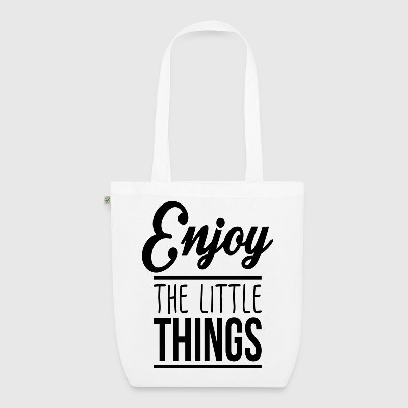 Enjoy the little things Tassen & rugzakken - Bio stoffen tas