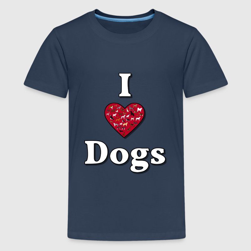 I love dogs 3 T-shirts - Teenager premium T-shirt