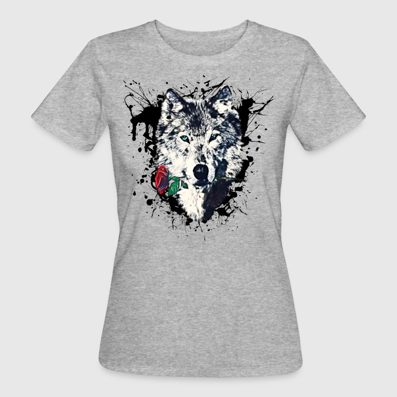 rose symbol wolf with rose love symbol wolves freedom t shirt spreadshirt