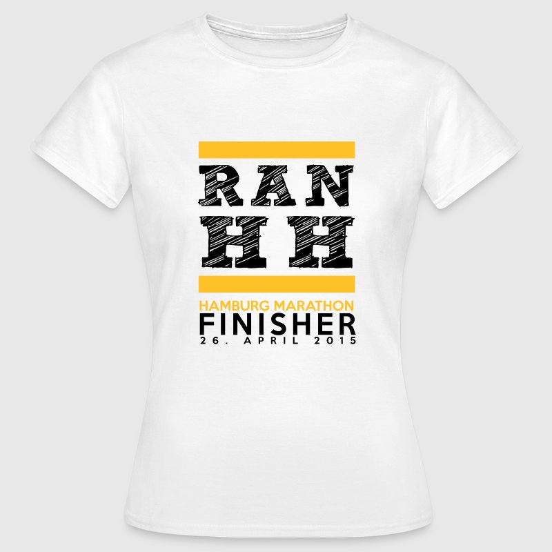 Ran Hamburg Marathon Finisher Shirt T-Shirts - Frauen T-Shirt