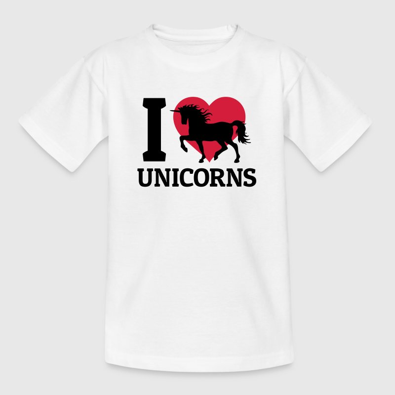 I love Unicorns T-Shirts - Kinder T-Shirt