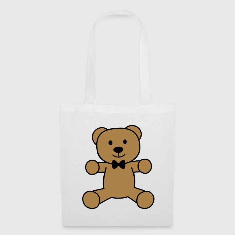 teddy bear with bow tie ours en peluche avec noeud papillon Sacs et sacs à dos - Tote Bag