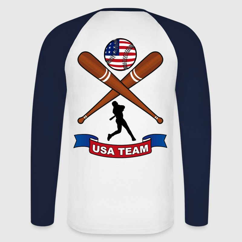 Baseball US Sport Manches longues - T-shirt baseball manches longues Homme