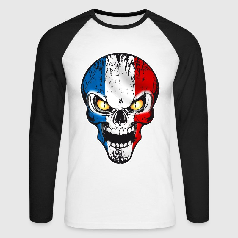 Skull France Manches longues - T-shirt baseball manches longues Homme