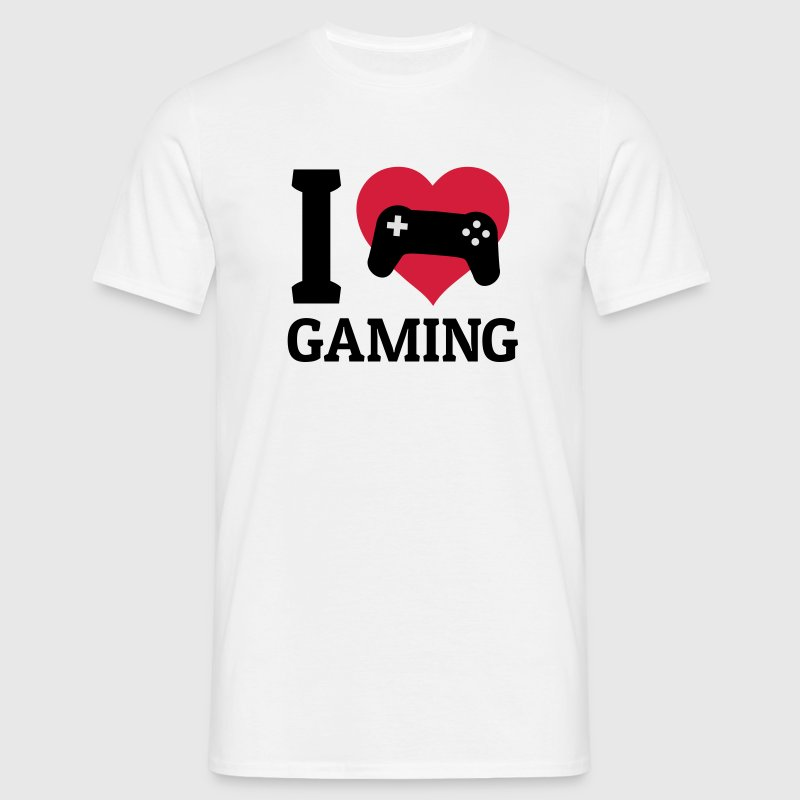I love gaming jeg elsker gaming T-shirts - Herre-T-shirt