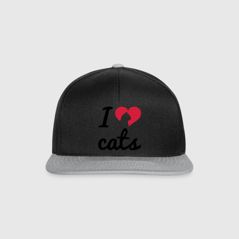 Fancy I Love Cats  Kasketter & Huer - Snapback Cap