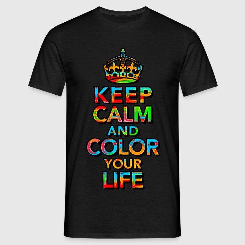 KEEP CALM, quotes, funny, color, crown, slogan T-Shirts - Men's T-Shirt