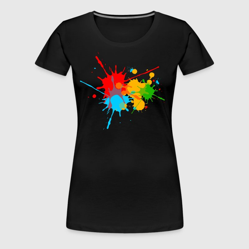 farbspritzer farbkleckse farbe color bunt fun t shirt spreadshirt. Black Bedroom Furniture Sets. Home Design Ideas