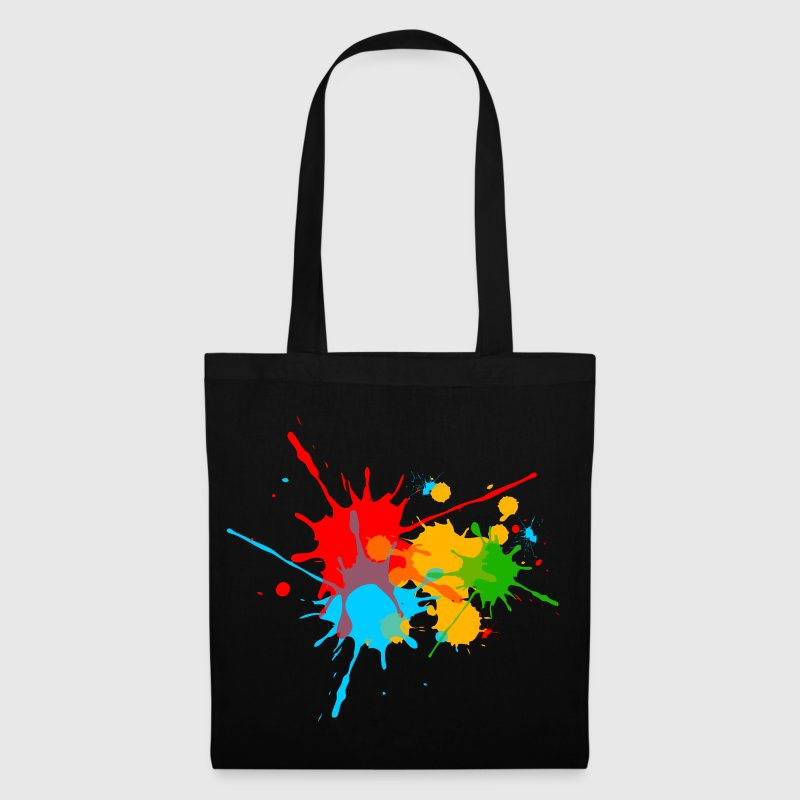 Ink, Paint, Color, Splashes, Splatter, Colour, Fun Bags & Backpacks - Tote Bag