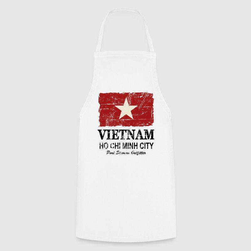 tablier vietnam vintage flag spreadshirt. Black Bedroom Furniture Sets. Home Design Ideas