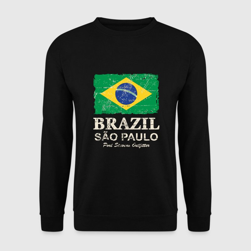 Brazil Vintage Flag Sweat-shirts - Sweat-shirt Homme