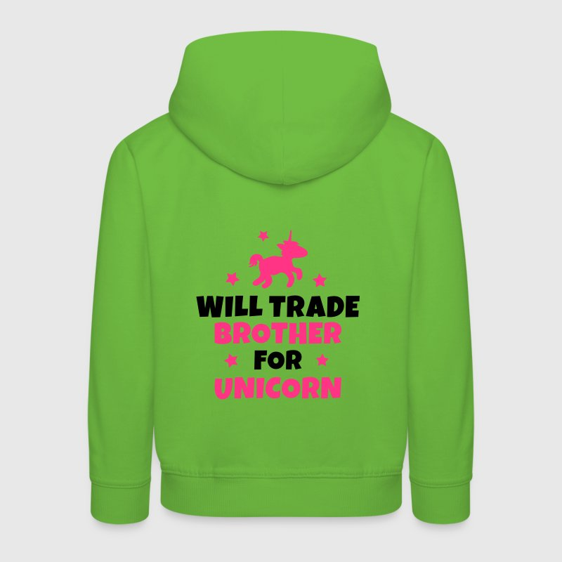 Will trade brother for unicorn Hoodies - Kids' Premium Hoodie