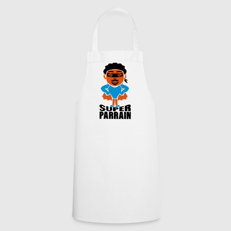 tablier parrain super heros cape tete rigolo | spreadshirt
