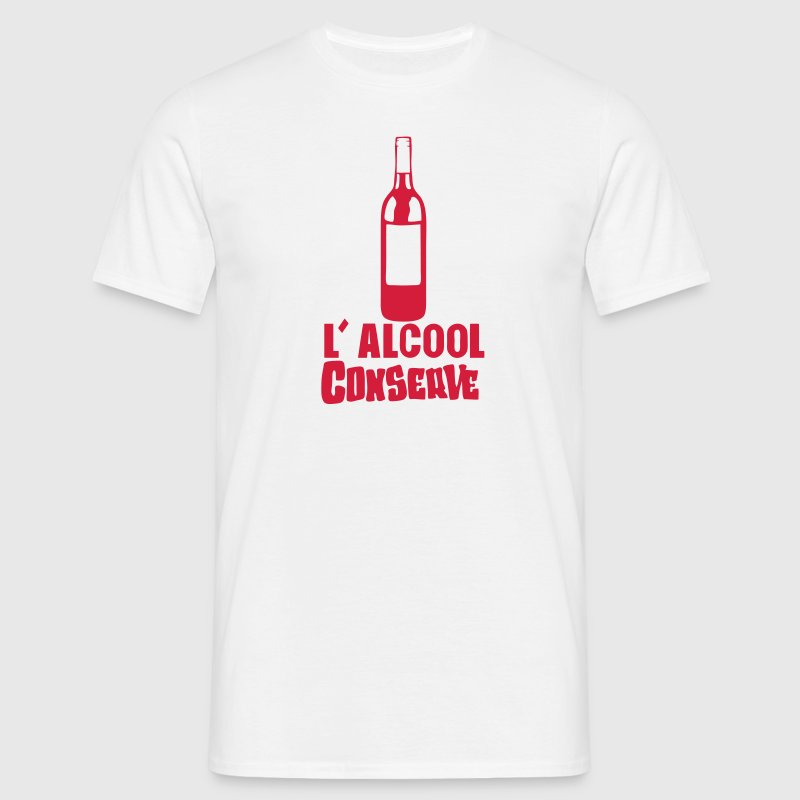 alcool conserve bouteille vin humour Tee shirts - T-shirt Homme