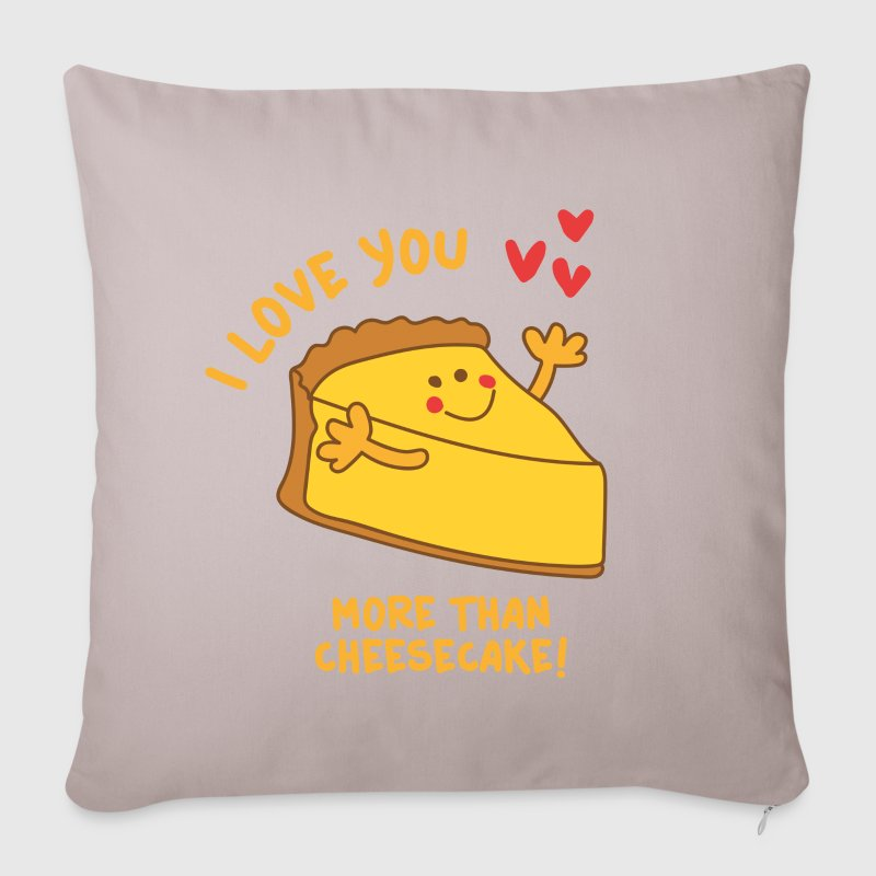 Beige I love you more than Cheesecake Other - Sofa pillow cover 44 x 44 cm