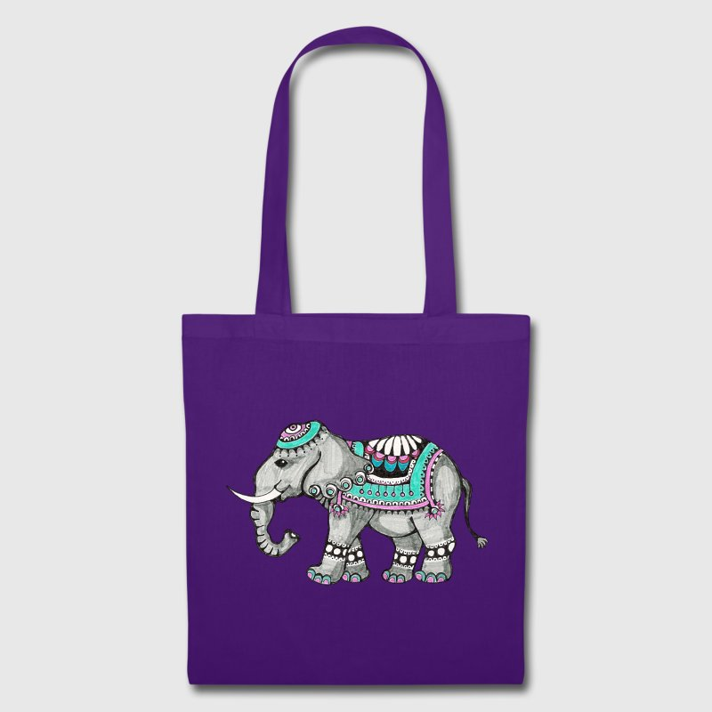 Indian Elephant, nature, animal, wild, design Bags & Backpacks - Tote Bag