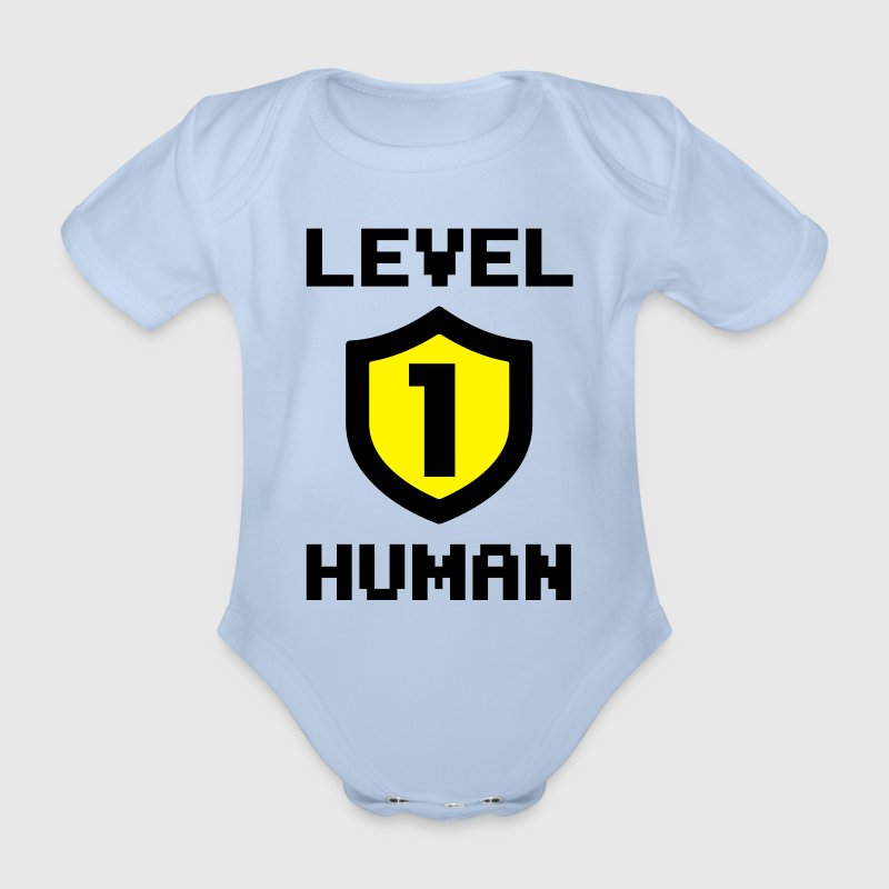 Level 1 human Tee shirts - Body bébé bio manches courtes