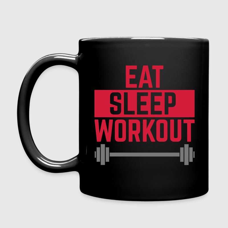 Eat Sleep Workout  Mugs & Drinkware - Full Colour Mug
