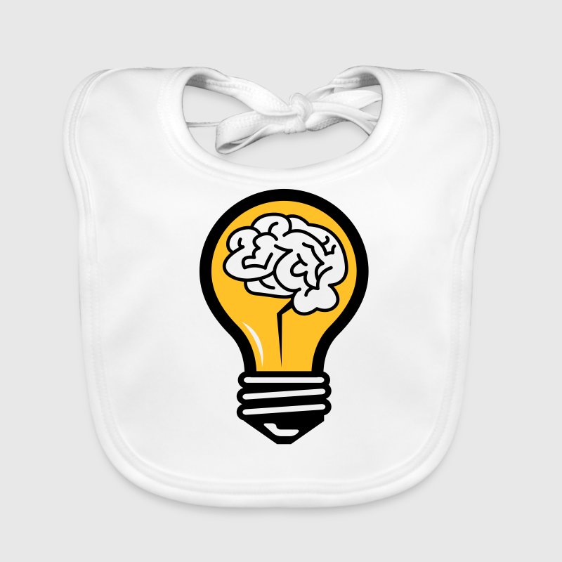 Light bulb with a brain Accessories - Baby Organic Bib