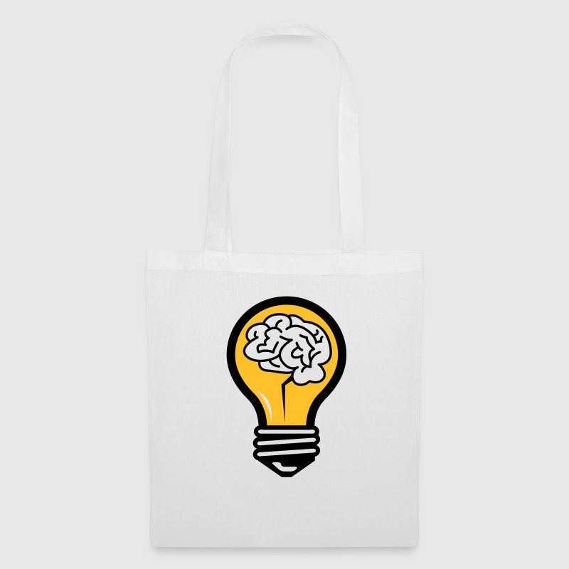 Light bulb with a brain Bags & Backpacks - Tote Bag