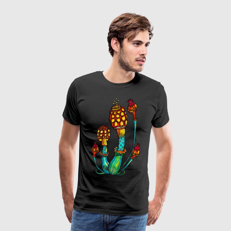 Magic Mushrooms, Magiska svampar, svamp, Goa Rave Övrigt - Premium-T-shirt herr