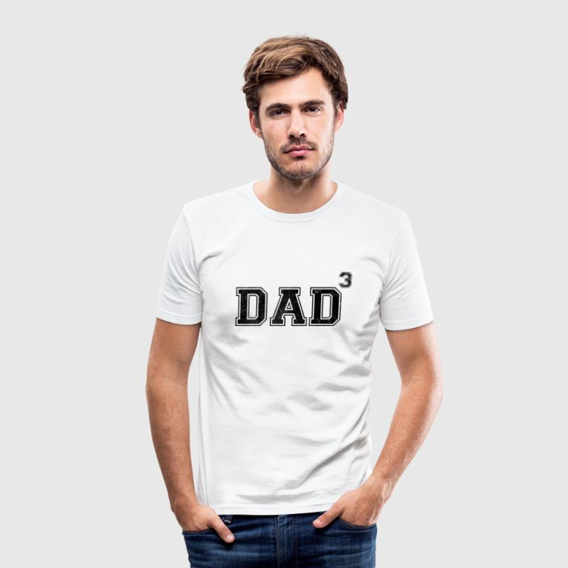 Dad Of 3 T-Shirts - Men's Slim Fit T-Shirt