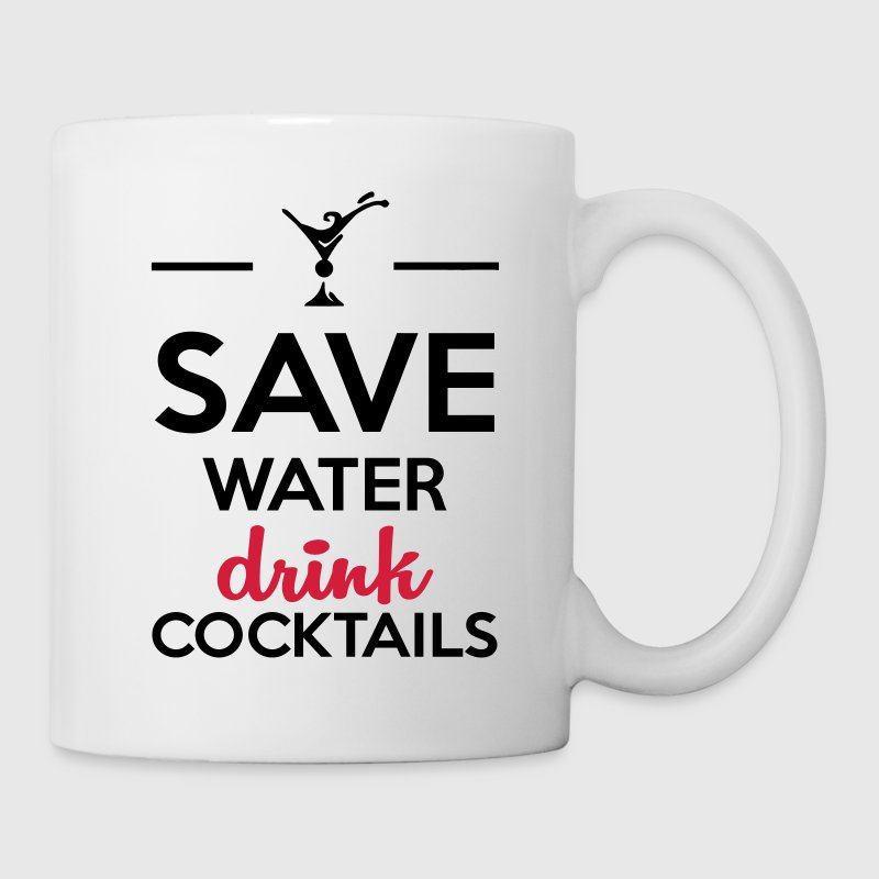 Bianco Alcol Fun Shirt- Save Water drink Cocktails Tazze & Accessori - Tazza